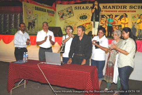 Team Inertia launches revamped Sharada Mandir School website at Ekta 08